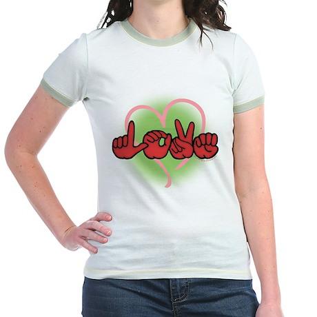 LoveWithHeart Jr. Ringer T-Shirt
