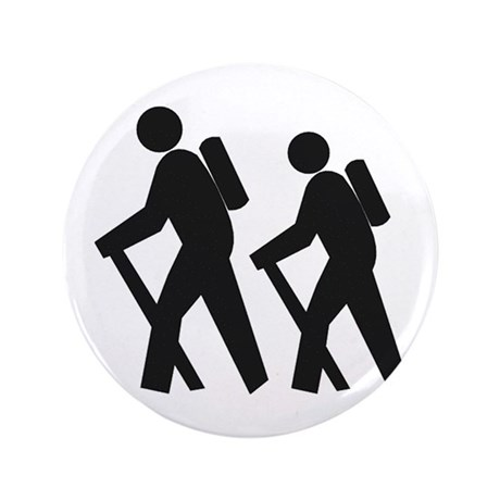 """Hiking2 3.5"""" Button (100 pack)"""