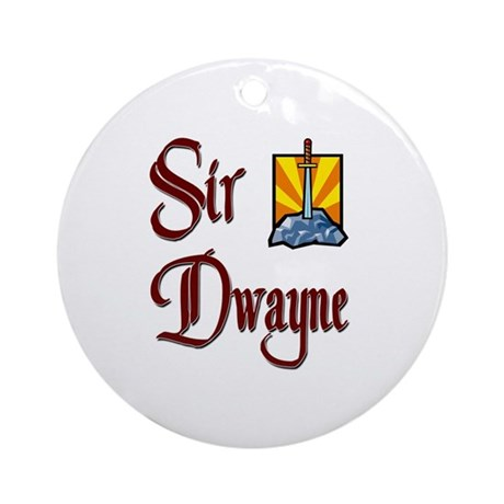Sir Dwayne Ornament (Round)