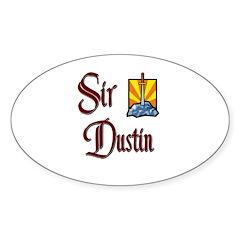 Sir Dustin Oval Decal