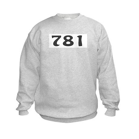 781 Area Code Kids Sweatshirt