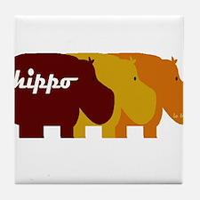Cool Hippo Tile Coaster