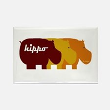 Unique Hippos Rectangle Magnet