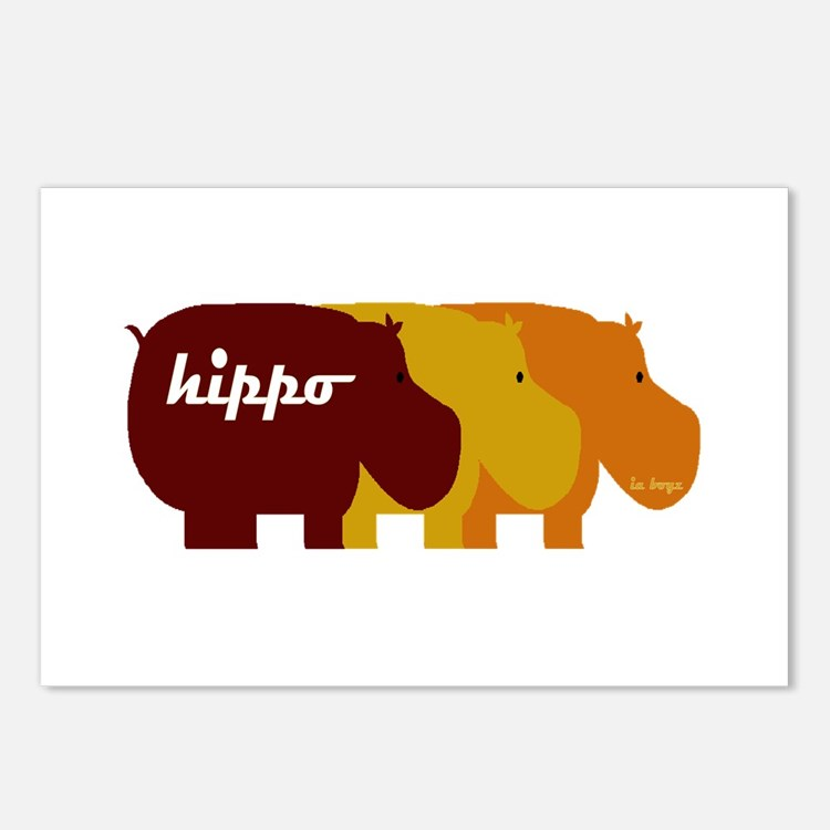 Cute Hippo Postcards (Package of 8)