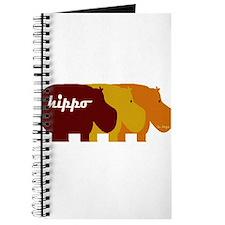 Cute Three hippo Journal