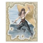 Pirate Girl 16x20 Poster