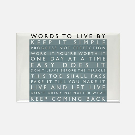 Words to Live By Rectangle Magnet