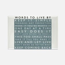 Words to Live By Rectangle Magnet (10 pack)