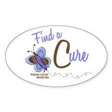 Find A Cure 1 Butterfly 2 PrC Oval Decal