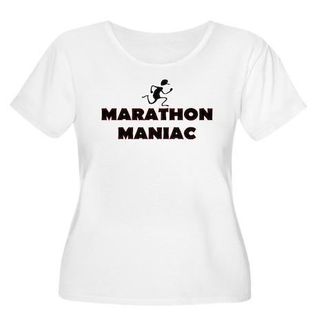 Marathon Maniac Women's Plus Size Scoop Neck T-Shi