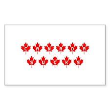 Canada Sucks Mapleleafs Rectangle Decal