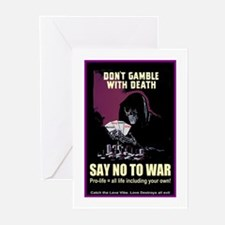 Say no to war Greeting Cards (Pk of 10)
