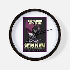 Say no to war Wall Clock