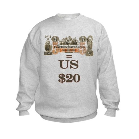 Save your Confederate money Kids Sweatshirt