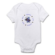 Hope Courage 1 Butterfly 2 PrC Infant Bodysuit