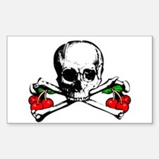 Rockabilly Cherries, Skull & Crossbones Decal
