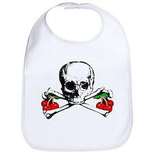 Rockabilly Cherries, Skull & Crossbones Bib