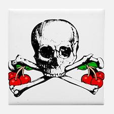 Rockabilly Cherries, Skull & Crossbones Tile Coast