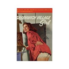 "Frig. Magnet - ""Greenwich Village Girl"""