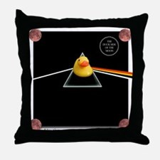 Duck Side of the Moon Album Throw Pillow