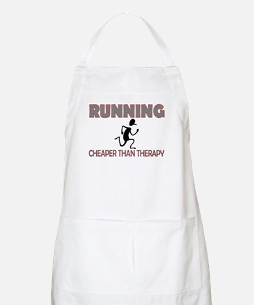Running Cheaper Than Therapy BBQ Apron