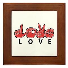 Captioned LOVE Framed Tile