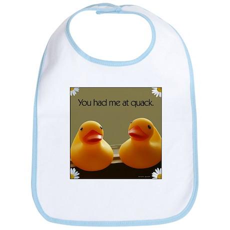 You Had Me At Quack Valentine Bib