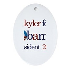 Skyler for Obama 2012 Oval Ornament