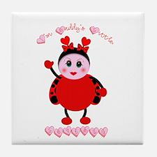 Daddy's Lovebug Tile Coaster
