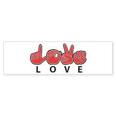 Captioned LOVE Bumper Bumper Sticker