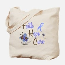 Faith Hope Cure 1 Butterfly 2 PrC Tote Bag