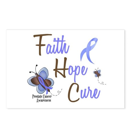 Faith Hope Cure 1 Butterfly 2 PrC Postcards (Packa