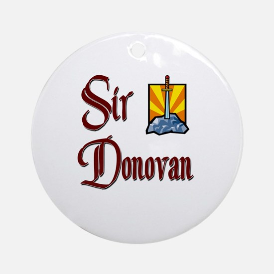 Sir Donovan Ornament (Round)