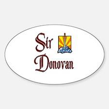 Sir Donovan Oval Decal