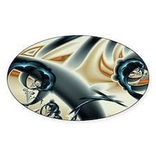 Infinite Jest Fractal Art Oval Decal