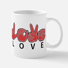 Captioned LOVE Mug