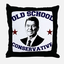 Old School Conservative Throw Pillow