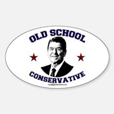 Old School Conservative Oval Decal