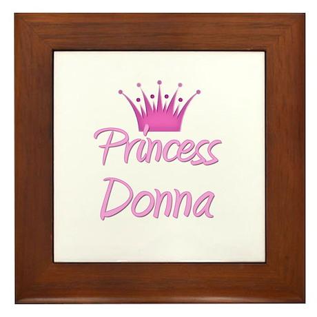 Princess Donna Framed Tile