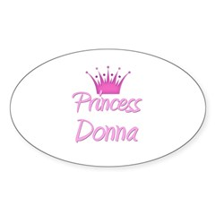 Princess Donna Oval Decal