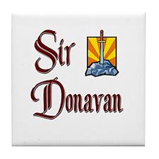 Sir Donavan Tile Coaster