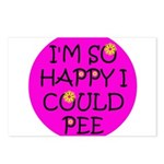 I'm So Happy I Could Pee! Postcards (Package of 8)