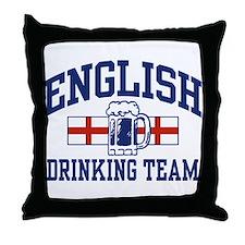 English Drinking Team Throw Pillow
