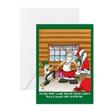 Atkins Santa ( Xmas Greeting Cards 6 pak)