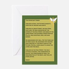 Apostles' Creed - White Dove Greeting Card
