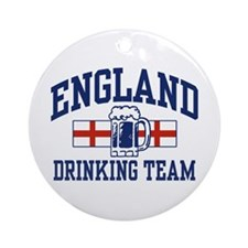 English Drinking Team Ornament (Round)