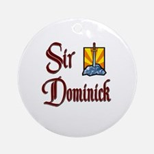 Sir Dominick Ornament (Round)