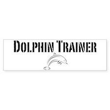 Dolphin Trainer Light Bumper Bumper Sticker