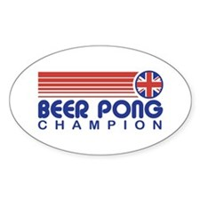 British Beer Pong Oval Decal