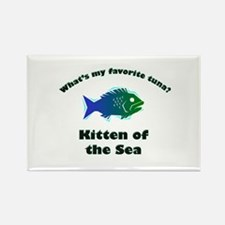 Kitten of the sea Rectangle Magnet